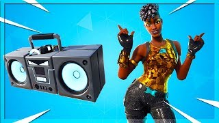 🔴 NEW ITEM! NEW Boom Box In Fortnite // New Disco Diva Skin! (Fortnite Battle Royale)