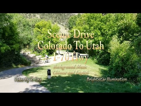 [HD] Amazing Scenic Drive from Colorado to Utah on I-70 Hwy