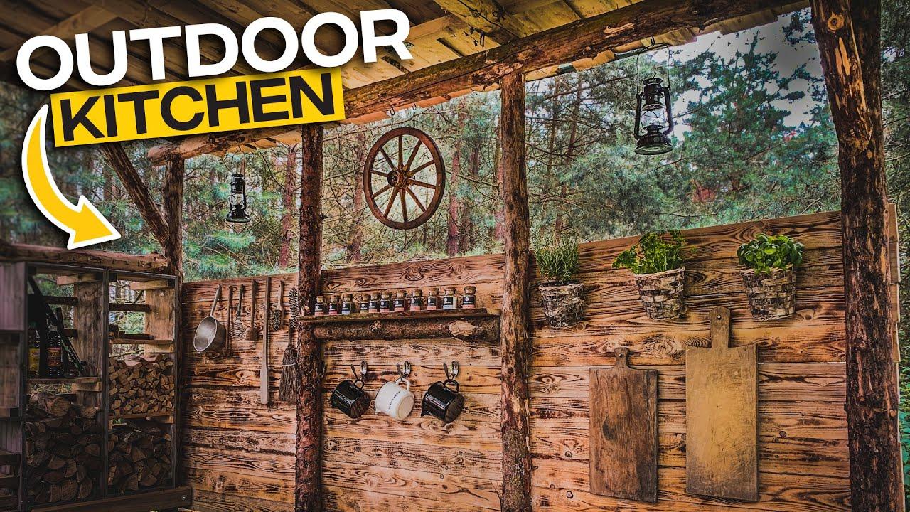 Outdoor Kitchen selber bauen - rustikale Küchenwand - Folge 007 - Tom Siesing
