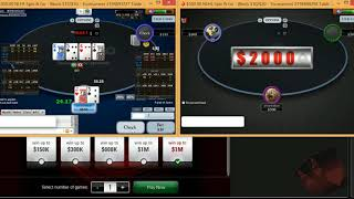 arronwilson playing $500 Spin and Go on Pokerstars - SpinnGO Pro HUD