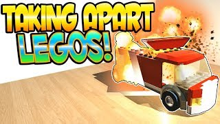 TAKING APART LEGO TOYS, TRAINS AND ROBOTS! - Disassembly 3D Gameplay - Disassembling Toys & Trains!