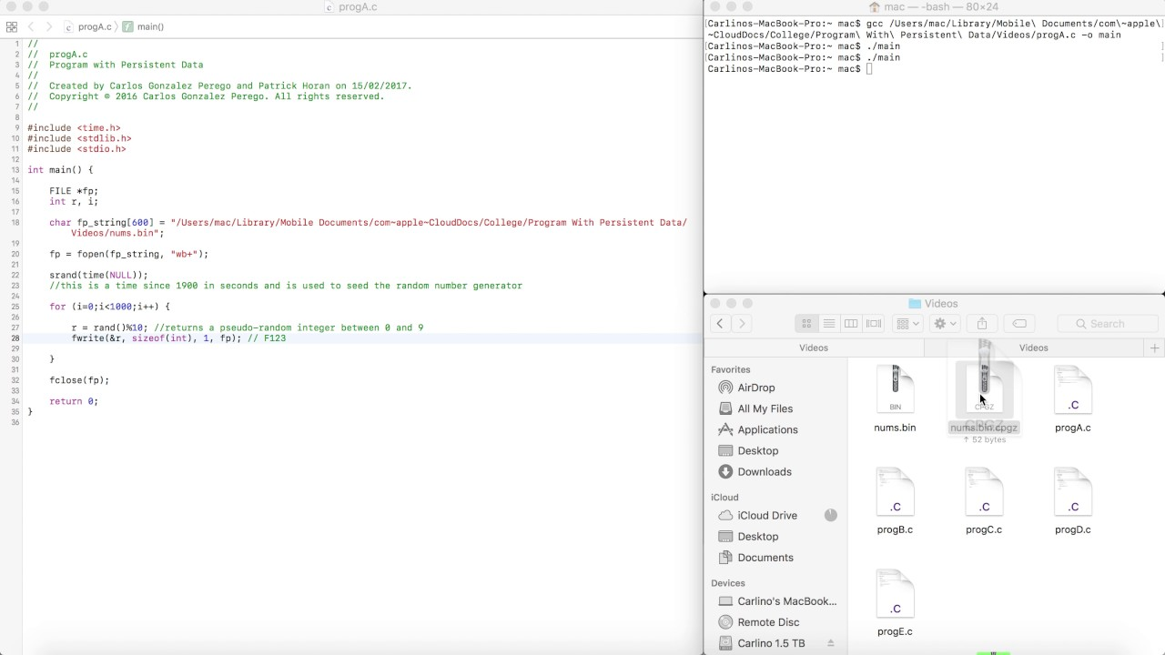 Read and Write Binary Files - Program With Persistent Data - Lab 21