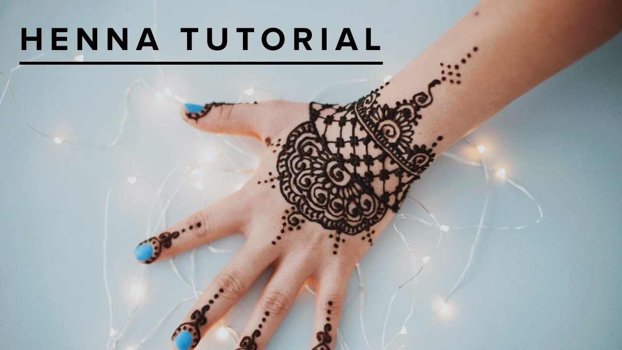 easy henna tattoo tutorial youtube. Black Bedroom Furniture Sets. Home Design Ideas