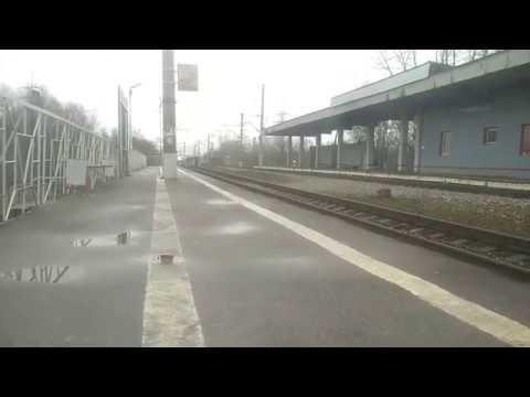 """Высокоскорстной поезд """"Сапсан"""" проезжает станцию Пролетарка 3"""
