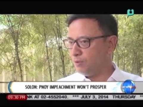 [NewsLife] Solon: President Aquino impeachment won't prosper    July 3, 2014