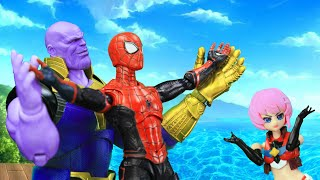 Spider man & Thanos In A Complicated Love Battle To Get Hot Pool Girl | Official Trailer