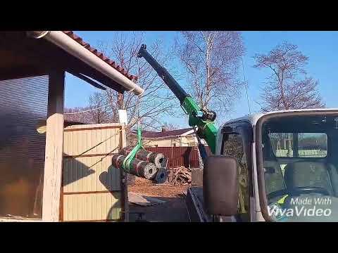 Мини кран для грузовика от 1 до 2 тонн.
