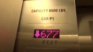 BLAZING FAST MontgomeryKONE Traction Elevators @ Washington Park MAX Station, Portland, OR