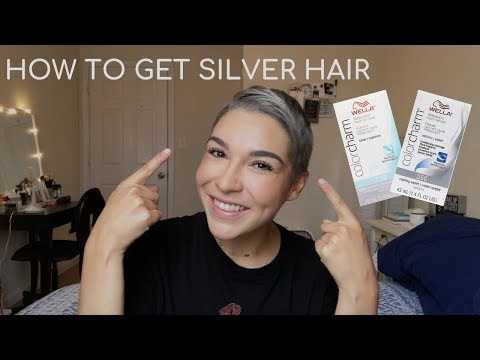 How to: Get silver hair using Wella 050 & T18