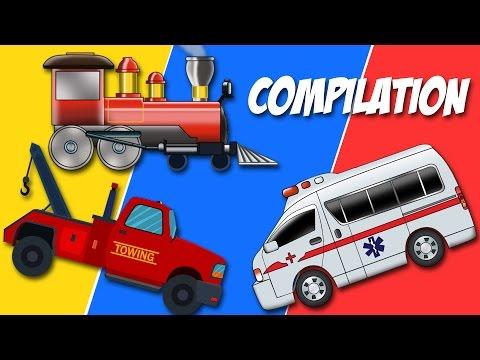 Uses of Vehicles   Trucks Compilation   kids youtube