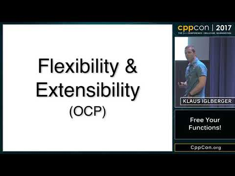 "CppCon 2017: Klaus Iglberger ""Free Your Functions!"""
