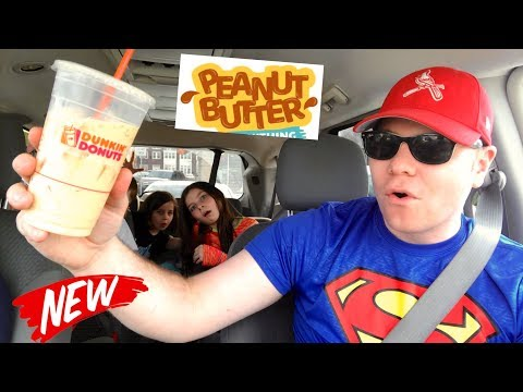 DUNKIN' DONUTS PEANUT BUTTER COOKIE SWIRL DRINK REVIEW