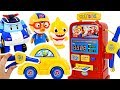 Let's go to Pororo's gas station with Tayo Kinder Bus and Poli! #PinkyPopToy
