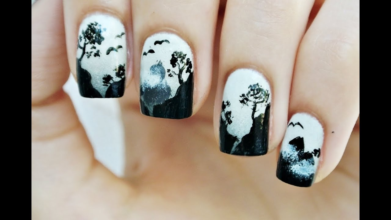 silent hill ombre nails manicure