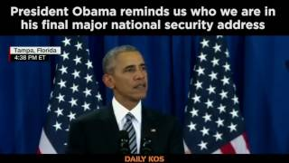 President Obama reminds us who we are in his final major national security address