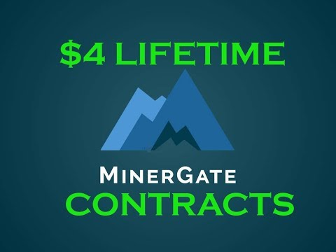 $4 Lifetime Bitcoin Cloud Mining Contracts at Minergate