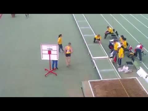 Bogdan Tudor - long jump 6.83m - WMACI BUDAPEST 2014 gold medal jump