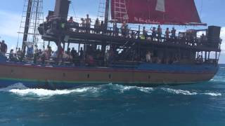 Jolly Roger pirate ship excursion in Barbados on October 8, 2014