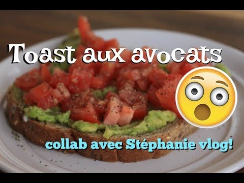 toasts-aux-avocats-/-recette-végétalienne-avec-avocat-et-tomate