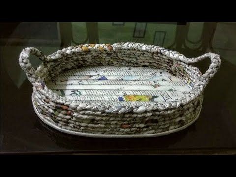 How to make a newspaper basket/Best out of waste craft