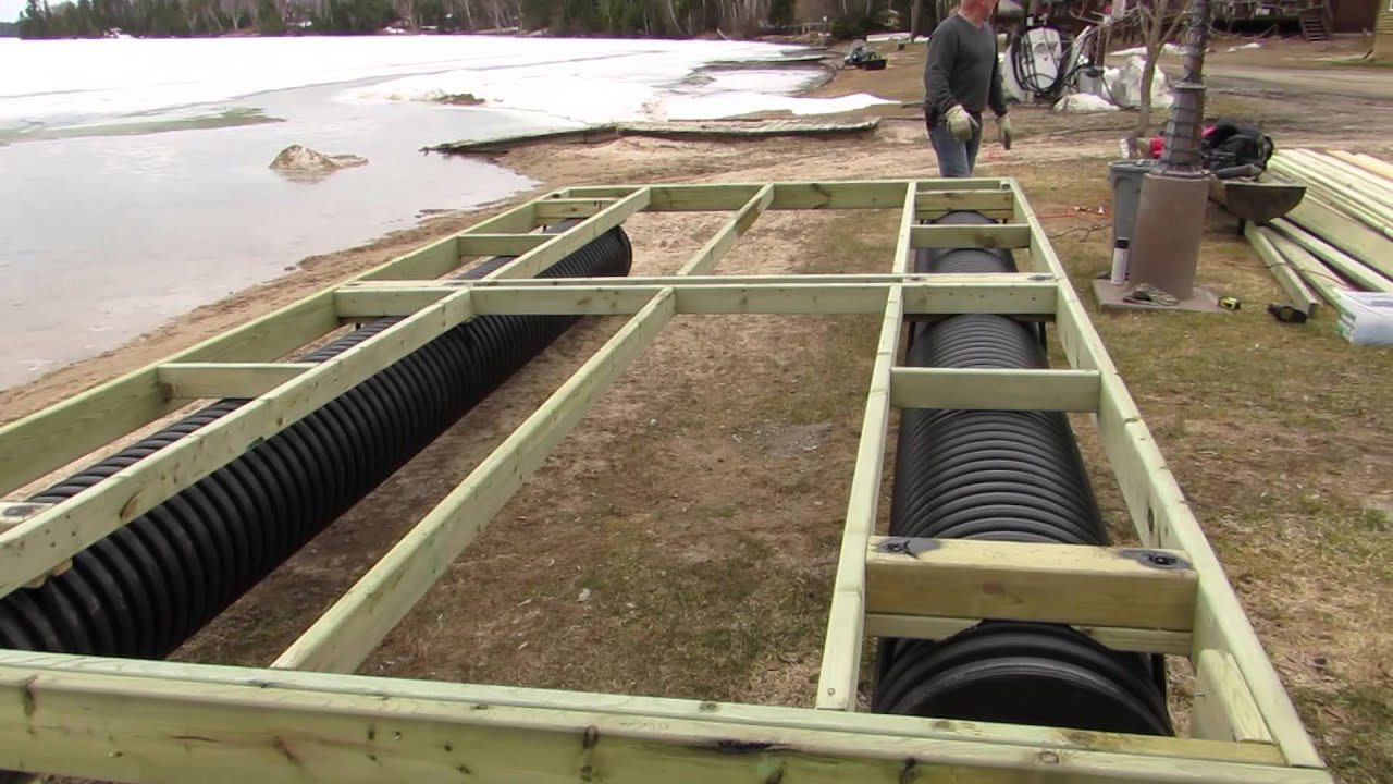 How To Build A Dock With Dock Pontoons Youtube
