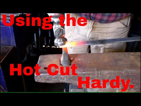 Using the Hot Cut Hardy tool.