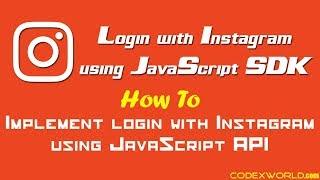 Login with Instagram using JavaScript SDK