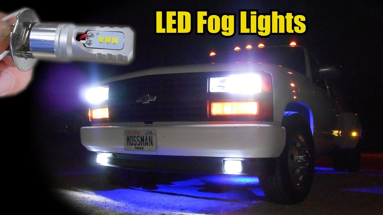 91 C3500 Dually Led Fog Lights Youtube