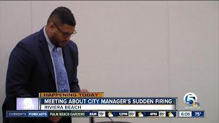 Riviera Beach residents seek answers after sudden firing of city manger
