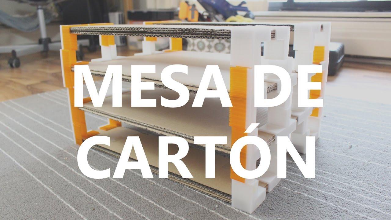 C mo hacer una mesa de cart n con una impresora 3d o con for Como hacer una mesa abatible