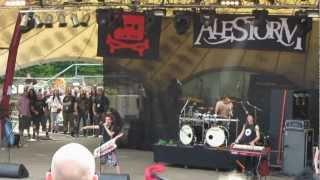 Alestorm @ Metalfest 2012 Loreley | Intro - Shipwrecked - Keelhauled
