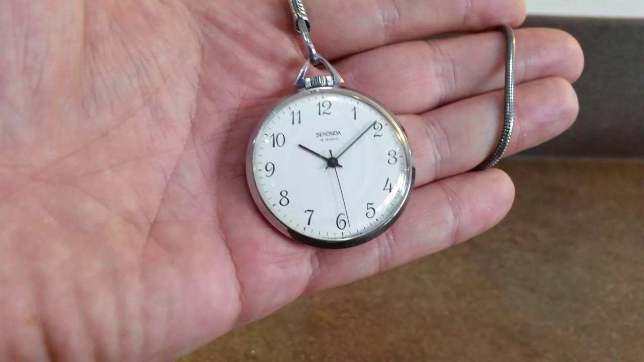 a07686537501 c1985 Sekonda mechanical pocket watch - YouTube