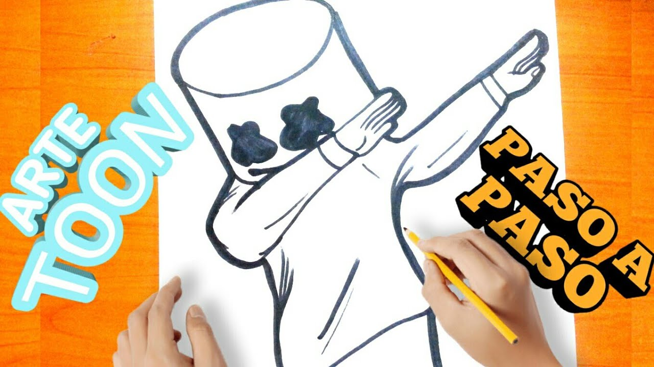 Como Dibujar A Marshmello Paso A Paso How To Draw Marshmallow