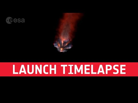 Mission Alpha launch timelapse