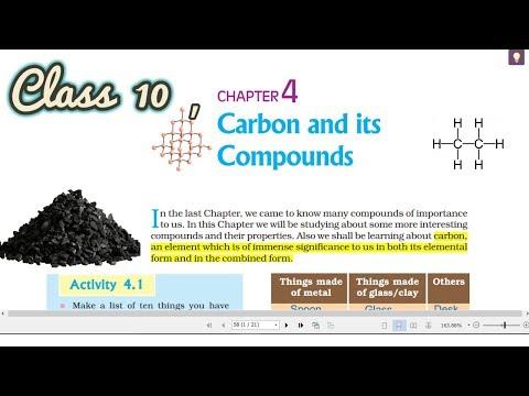 Carbon And Its Compounds Ch 4 Part 1 Class 10 Ncert