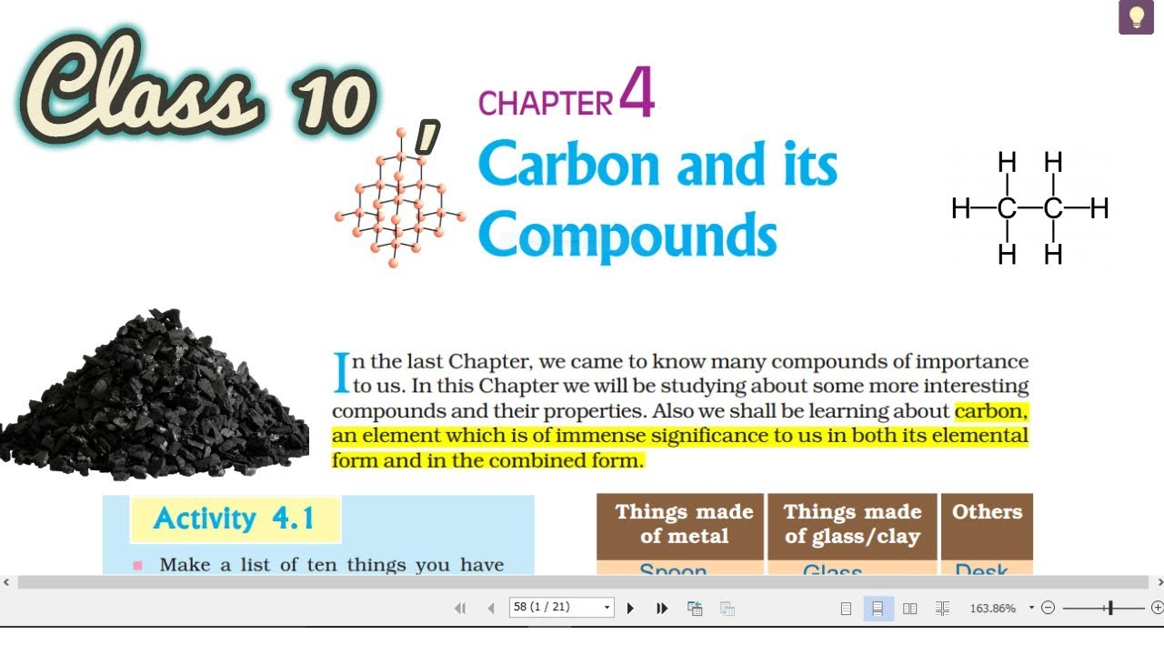 Carbon And Its Compounds Class 10 Ncert Pdf