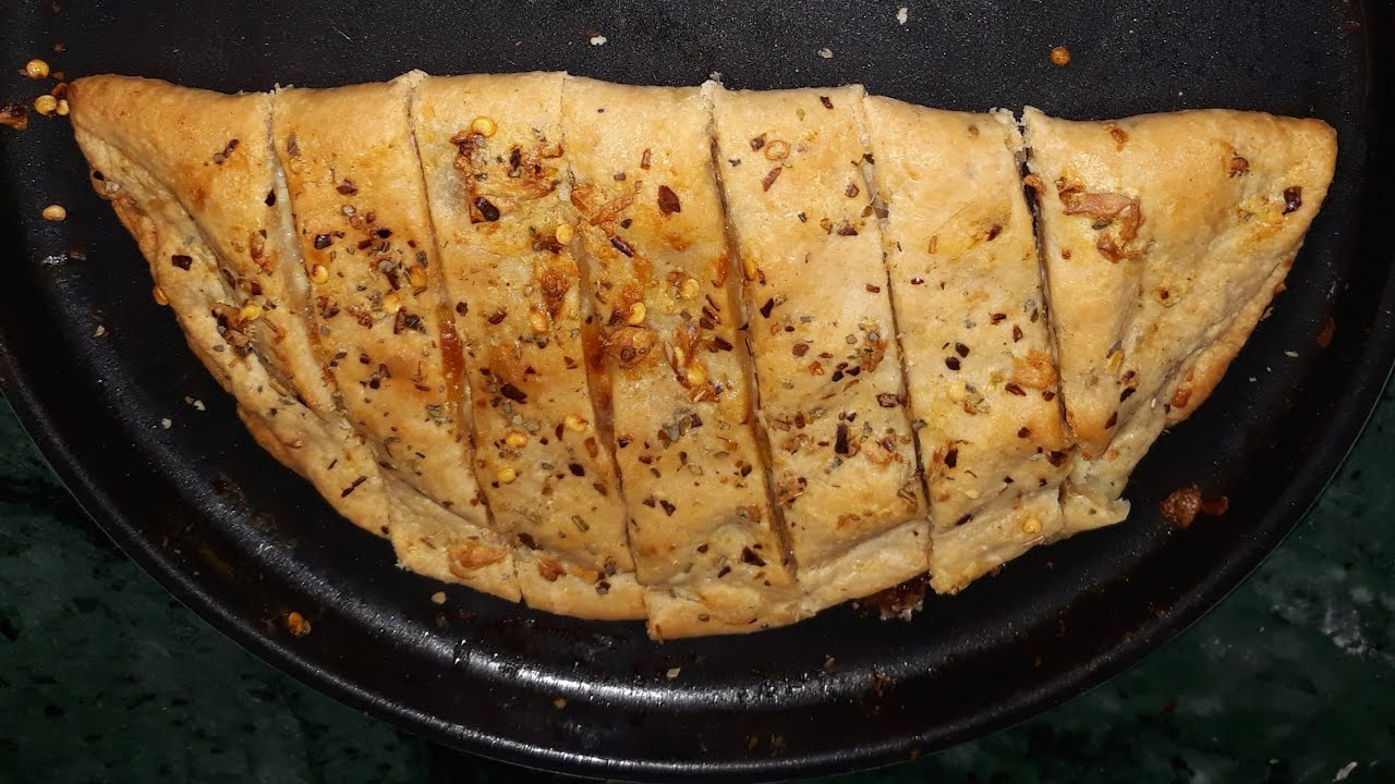 Garlic bread Recipe without Yeast, Baking Soda and Baking ...