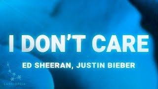 Gambar cover Ed Sheeran, Justin Bieber – I Don't Care (Lyrics)