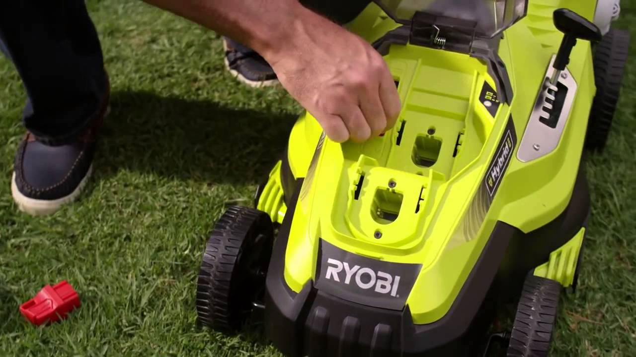 Ryobi Hybrid Lawnmower Rlm18c34h25