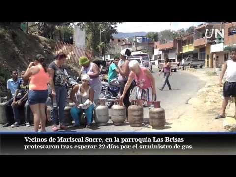 En Las Brisas protestan por falta de gas