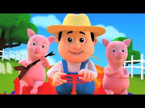 Старый Макдональд фермы образовательные песни детские стихи Kids Songs Old Madonald Had A Farm