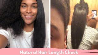 Natural Hair Length Check | Mid Back to Waist length