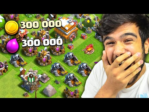 ENCONTREI O MAIOR ROUBO DA VILA MAIS NOOB DO CLASH OF CLANS!! #4