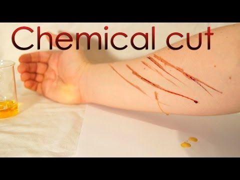 Chemical Cut Experiment - Making An Artificial Blood!