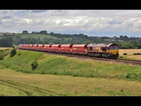 66095 passes Newton St Loe with 6Z84 on 12th July 2016