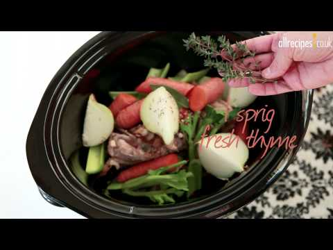 Slow Cooker Chicken Stock Video - Allrecipes.co.uk