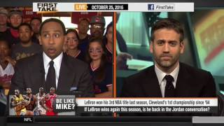 Stephen A Smith Emphatically Says LeBron Will Never Be Better Than Jordan!
