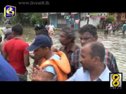 Colombo Flood - Live at 8 News