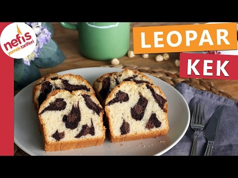 Leopar Kek Tarifi - Muhteşem Desenli Kek - Nefis Yemek Tarifleri