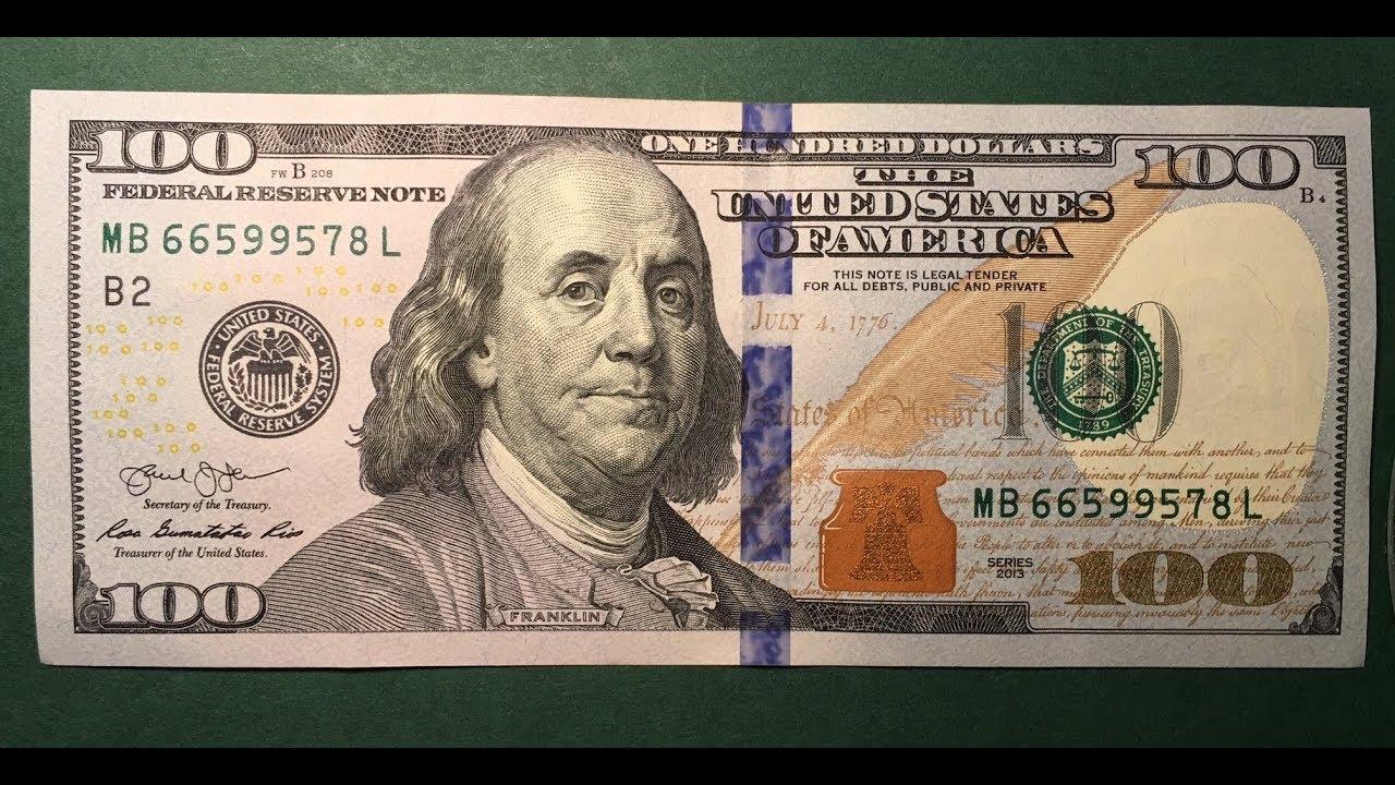 US $100 Bill 2013 - YouTube 100 Dollar Bill 2013